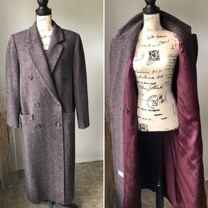 Vintage J G Hook Double Breasted Peacoat Wool XL